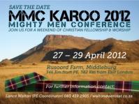 Diarise the Karoo MMC 2012 date now!