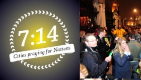 Christians praying publically for nations in global 7:14 initiative