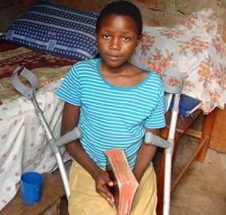 Ugandan girl tortured for Christ regaining use of legs