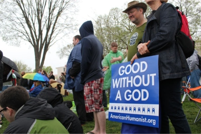 US atheists rally urged to mock religious