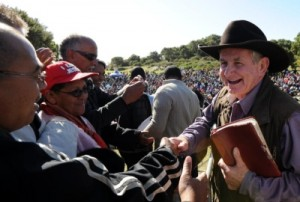 Angus Buchan encourages Mitchell's Plain crowd