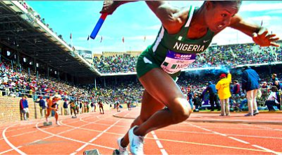 Nigerian Olympian athlete running for Jesus