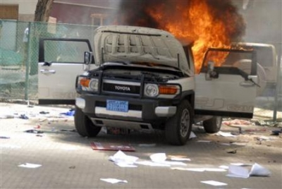 Four killed as US embassies in Middle East attacked in 9/11 week