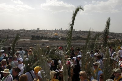 Christian broadcasters' cameras trained on Mount of Olives to capture Christ's return
