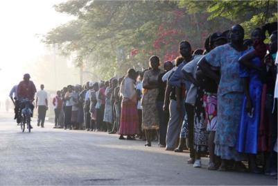 Kenya presidential election day dawns with prayers and violence