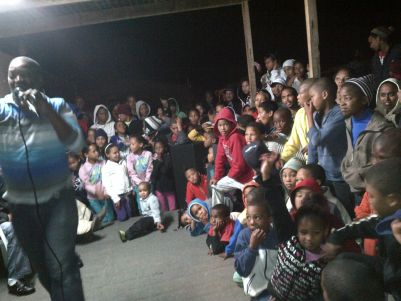 David Grootboom, a former child gangster sharing the love of God with children in his community.