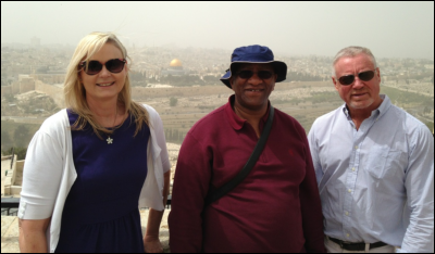 Opposition members on the  Parliamentary Committee during a visit to Jerusalem. They are (from left) Cheryllyn Dudley (ACDP), Smuts Ngonyama (COPE) and Ian Davidson (DA).