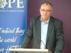 Paul Russell, director of the Australian anti-euthanasia group HOPE.
