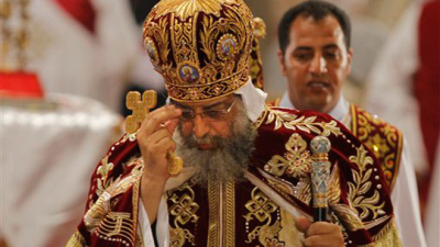 FILE -- May 4, 2013: Pope Tawadros II, the 118th pope of the Coptic Church of Egypt, leads the Easter Mass at St. Mark's Cathedral in Cairo, Egypt. (AP Photo/Amr Nabil) Read more: http://www.foxnews.com/opinion/2013/05/07/mass-exodus-christians-from-muslim-world/#ixzz2SpxPzT15