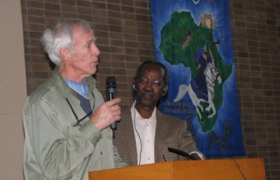 A photo from 2008 of David Bliss (left) and David Mniki, who were founders of the annual Bless The Nation Conference which traces its roots back to the 1980s.