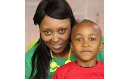 Sibongile Sibeko and son Sibusiso.