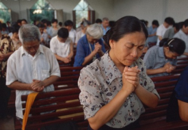 Chinese Christians: China is showing a resurgence in relgions.