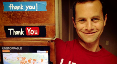Kirk Cameron posted this photo, along with a message to his fans, on his Facebook page Friday evening. (PHOTO: Facebook )