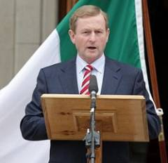 Irish PrIme Minister (Taoiseach), eNDA kENNY.