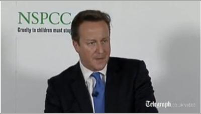 British Prime Minister David Cameron announcing his plans to crack down on online pornography. (PHOTO: The Telegraph)