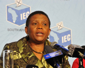 Pansy Tlakula, Chief Electoral Officer at the IEC. (PHOTO: GCIS)
