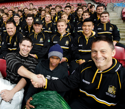 UK school rugby side supports Cape Town children's home