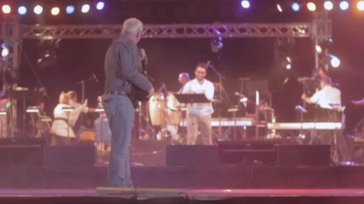 Angus Buchan at the 2012 Feast of Tabernacles opening service at Ein Gedi, Israel, when a rushing mighty wind arrived during his message.