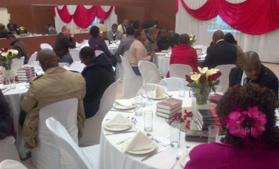 Alpha course reception dinner in Gugulethu.