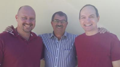 Human Hearts Ministries team members (from the left) Dirk van der Mescht, Kobus Prinsloo and Danie Matthee.