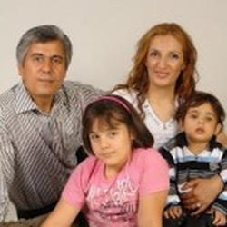 Pastor Behnam Irani and his family.