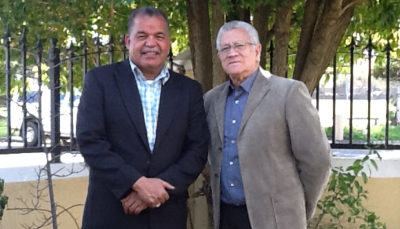 Pastor Joseph Miller( left) and Pastor Barry Isaacs( right). Pastor Barry is the Founder of Transformation Africa who partners with Pastor Miller's ministry team..