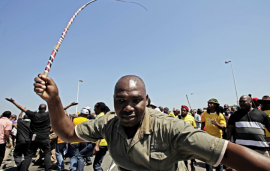 Violent strikes are on the increase in South Africa. (PHOTO: Times Live )
