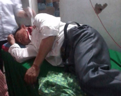 A victim of police brutality in Hanoi.
