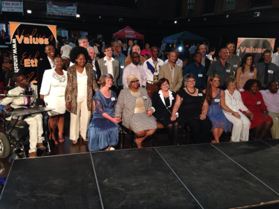 Salt and Light awards event in Bloemfontein where people were honoured for opposing corruption.