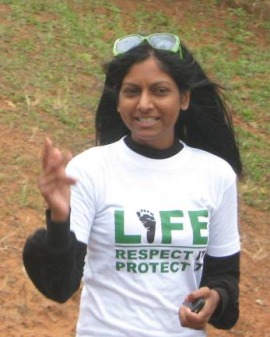 Duschania Pillay a key event organizer and   and Durban correspondent for 'Watchmen on the Wall'.