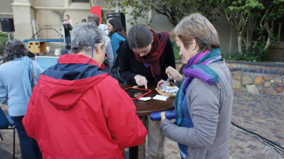 Christians in Long Street, Cape Town, signing the Global Call to Action.