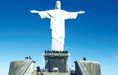 THE 'CHRIST the Redeemer' statue in Rio de Janeiro. (PHOTO:: REUTERS)