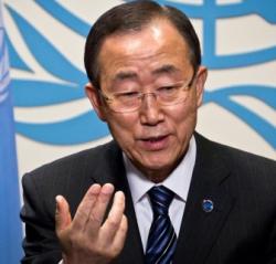 Ban Ki-moon, Secretary General of the United Nations.