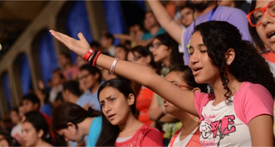 Worshipers at the 2012 'Count it Right' festival.