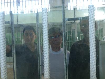 Three of the four jailed Christians in Adel-Abad Prison. From left to right: Mojtaba Seyyed Alaedin Hossein, Homayoun Shokouhi and Mohammad-Reza Partoei. (PHOTO:Mohabat News)