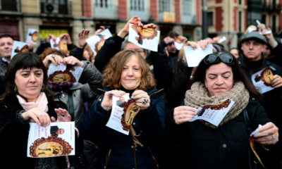 Women protest against the book 'Marry and Be Submissive' during The International Day of Eliminating Violence against women.(PHOTO: Reuters)