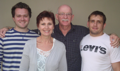 Mighty Youth Conference organisers, from the left, Nathan van der Merwe, Milada and Johan Burger, and Tiaan van Wyk.