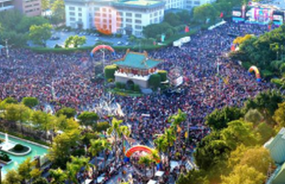 Tens of thousands of marchers in Taipei, Taiwan supporting traditional marriage.