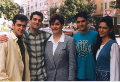 The family of 'martyred' pastor Haik Hovsepian, shortly after they left Iran in 1999. They still work to support Iranian Christians throughout the world.