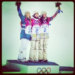 On the Podium,2014 Olympics (PHTOTl via Instagram.