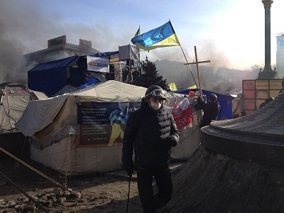 IMB workers say God is at work in the hearts of Ukrainians in the midst of escalating violence as churches hand out scriptures and pray   Photo by Ukrainian evangelical believer Igor Prus.