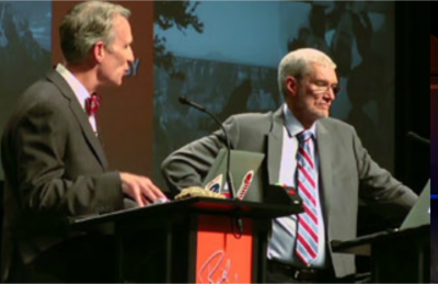 """Bill Nye the """"Science Guy"""" (left) and Creation Museum founder Ken Ham, debate on creation. (See Video of Debate below)"""