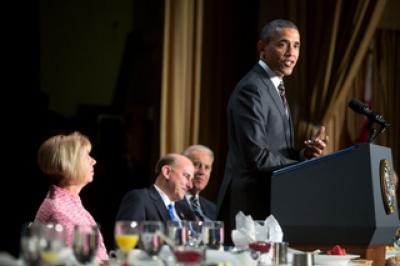 President Obama at prayer breakfast.