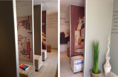 Two views of the beautiful new 24 hour prayer room at the House of Bread, Bloemfontein.