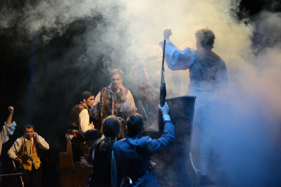 A scene from a past stage production by Richard Montez.