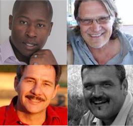 MMC Joburg Speakers: (Top, from left) Afrika Mhlophe, Francois du Toit, (bottom, from left) Danie Botha, Franna Benade.