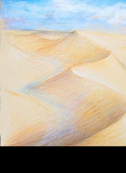 An artwork inspired by this year's WWDP theme -- Egypt and Streams in the Desert.