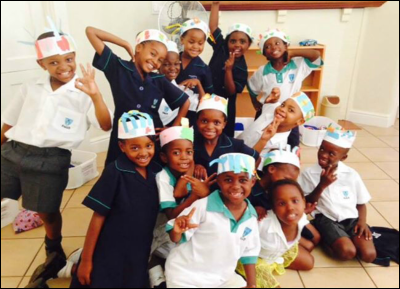 Some of the children cared for by Operation Madiba Smile -- after an art class.