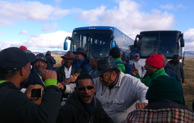 Some of the approximately 400 men from Cape Town who came to the KMMC 2014 on 11 sponsored buses.