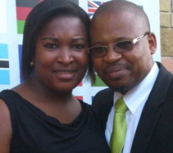 Rev Phumzile Stofile and his wife (A picture he sent with his testimony).